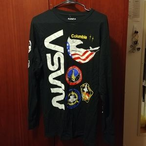 NASA BLACK LOGO LONG SLEEVE